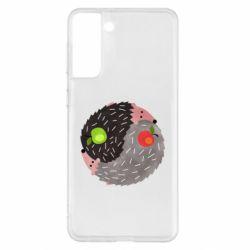 Чохол для Samsung S21+ Hedgehogs yin-yang