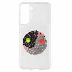 Чохол для Samsung S21 Hedgehogs yin-yang