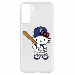 Чохол для Samsung S21+ Hello Kitty baseball