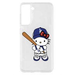 Чохол для Samsung S21 Hello Kitty baseball