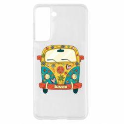 Чохол для Samsung S21 Hippie bus