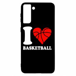 Чохол для Samsung S21+ I love basketball