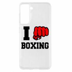 Чохол для Samsung S21 I love boxing