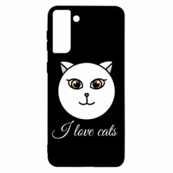 Чохол для Samsung S21+ I love cats art