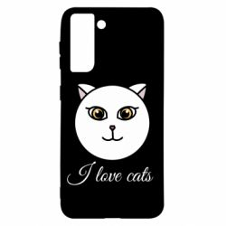 Чохол для Samsung S21 I love cats art