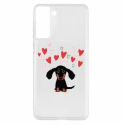 Чохол для Samsung S21+ I love dachshund