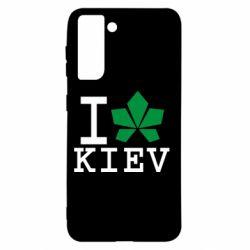 Чохол для Samsung S21 I love Kiev - з листком