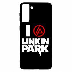 Чехол для Samsung S21+ I love Linkin Park