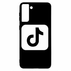 Чехол для Samsung S21+ Иконка тик ток