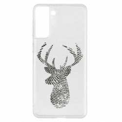 Чохол для Samsung S21+ Imprint of human skin in the form of a deer