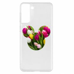 Чохол для Samsung S21+ Inner world flowers mickey mouse