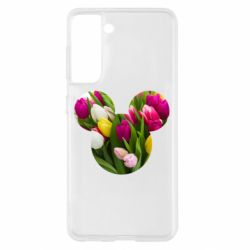 Чохол для Samsung S21 Inner world flowers mickey mouse