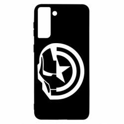 Чохол для Samsung S21+ Iron Man and Captain America