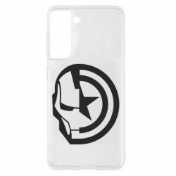 Чохол для Samsung S21 Iron Man and Captain America