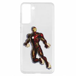Чохол для Samsung S21+ Iron man with the shadow of the lines