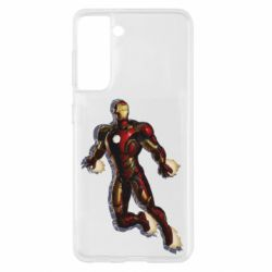 Чохол для Samsung S21 Iron man with the shadow of the lines