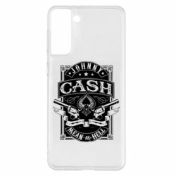 Чохол для Samsung S21+ Johnny cash mean as hell
