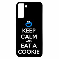 Чехол для Samsung S21+ Keep Calm and Eat a cookie