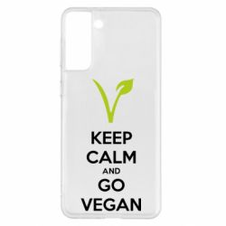 Чехол для Samsung S21+ Keep calm and go vegan