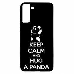Чохол для Samsung S21+ KEEP CALM and HUG A PANDA