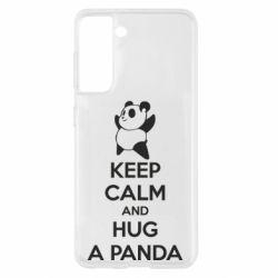 Чохол для Samsung S21 KEEP CALM and HUG A PANDA