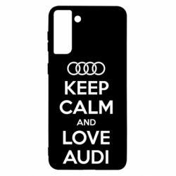 Чехол для Samsung S21+ Keep Calm and Love Audi