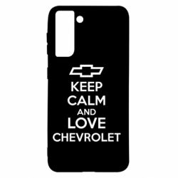 Чохол для Samsung S21 KEEP CALM AND LOVE CHEVROLET