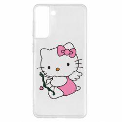 Чехол для Samsung S21+ Kitty амурчик