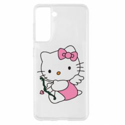 Чехол для Samsung S21 Kitty амурчик