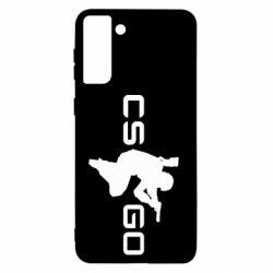 Чохол для Samsung S21+ Контр Страйк, логотип і гравець