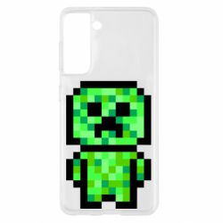 Чохол для Samsung S21 Кріпер піксель арт
