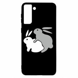 Чохол для Samsung S21+ Кролики
