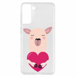 Чохол для Samsung S21+ Lama with heart