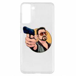 Чохол для Samsung S21+ Лебовськи з пістолетом