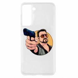 Чохол для Samsung S21 Лебовськи з пістолетом
