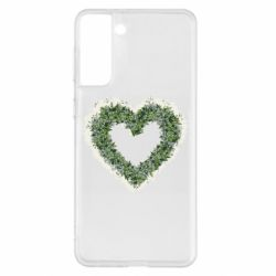 Чехол для Samsung S21+ Lilies of the valley in the shape of a heart