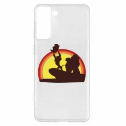 Чохол для Samsung S21+ Lion king silhouette