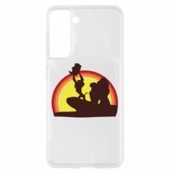 Чохол для Samsung S21 Lion king silhouette