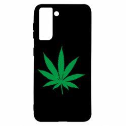 Чохол для Samsung S21 Листочок марихуани