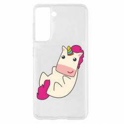 Чехол для Samsung S21 Little cute unicorn