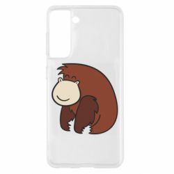 Чехол для Samsung S21 Little monkey