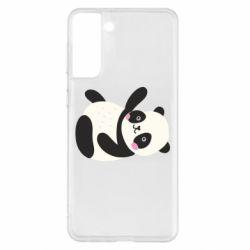 Чехол для Samsung S21+ Little panda