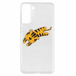 Чехол для Samsung S21+ Little striped tiger