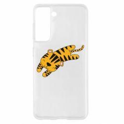 Чехол для Samsung S21 Little striped tiger