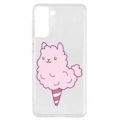 Чехол для Samsung S21+ Llama Ice Cream