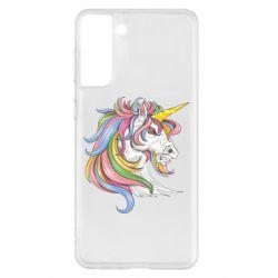 Чохол для Samsung S21+ Кінь з кольоровою гривою