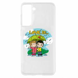 Чохол для Samsung S21 Love is ... in the rain