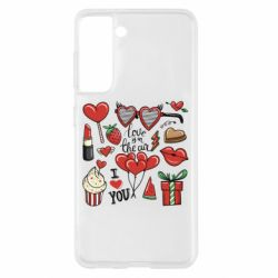 Чохол для Samsung S21 Love is in the air