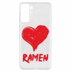 Чохол для Samsung S21+ Love ramen