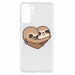 Чохол для Samsung S21+ Love sloths